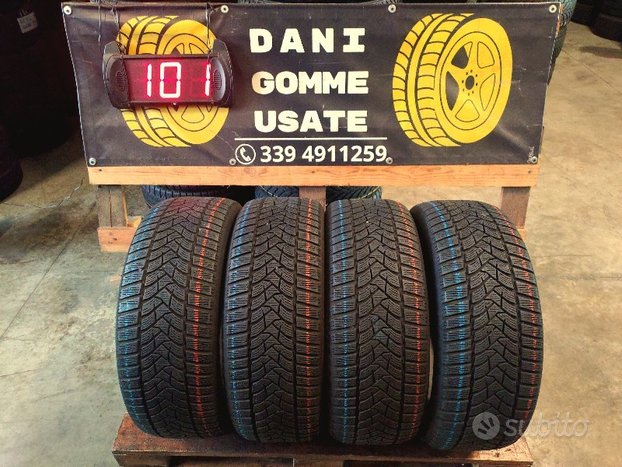 4 gomme usate 215 55 16 invernali 75/80% dunlop