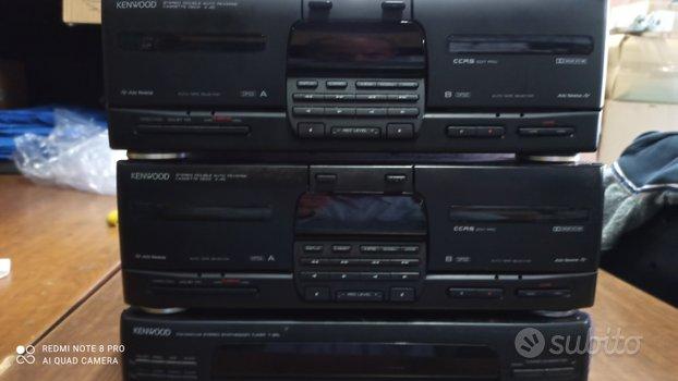 Doppia piastra a cassette kenwood