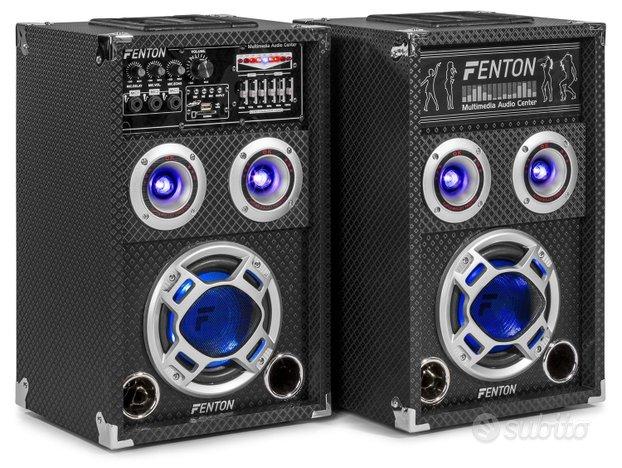 Casse amplificate 400w bt usb karaoke