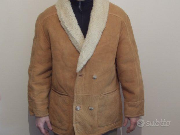 Giaccone Uomo Shearling in vero Montone taglia 48