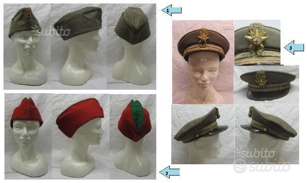 Cappello militare berretto basco bustina stemma
