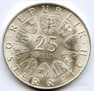 AUSTRIA 1968 Moneta 25 Schilling Argento FDC