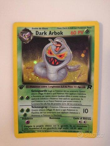 Dark Arbok Team Rocket 1edizione 2/82 ITA Rara