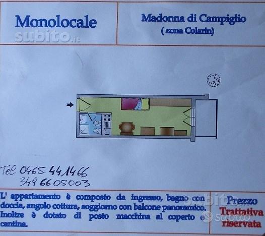 Monolocale Madonna di Campiglio, Via cima d'Ambiez