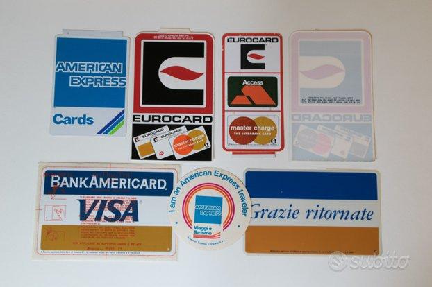 Adesivi carte di credito anni 70