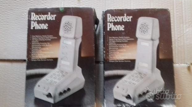 TELEFONI con REGISTRATORE vintage