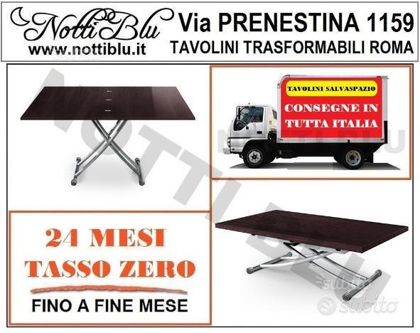 Tavolino Trasformabile E055 anche per sotto letto