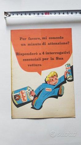 Olio Fiat Nizzoli depliant originale 50 brochure