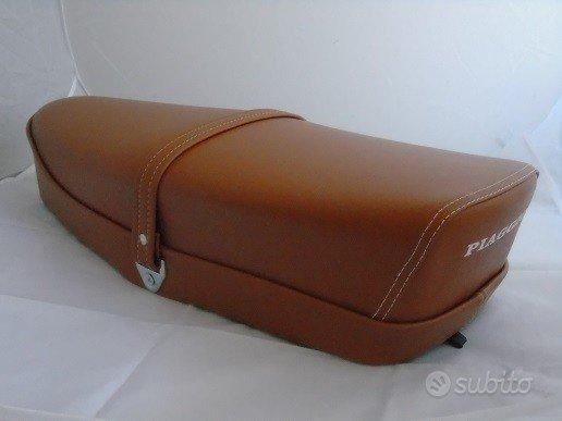 Sella Vespa 50 Special cuoio marrone con levetta