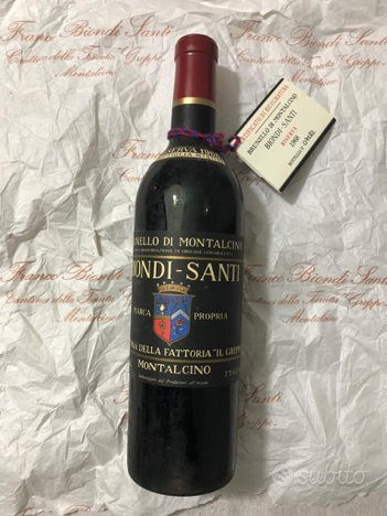Biondi Santi Brunello di Montalcino riserva 1968