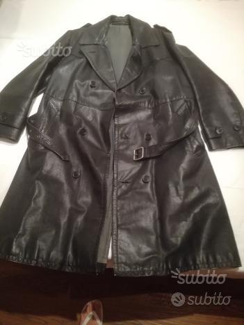 Cappotto in vera pelle vintage