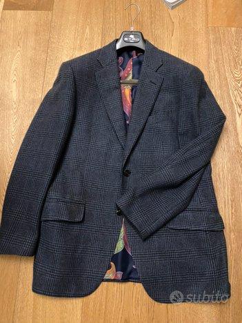 Giacca blazer etro 100% cashmere blu