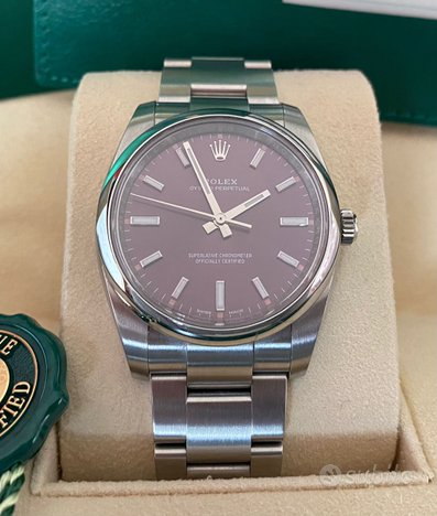 Rolex oyster perpetual red grape nuovo 2019