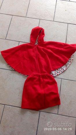 Vestitino di carnevale da Cappuccetto Rosso