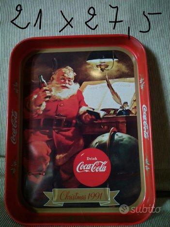 Vassoio Coca-Cola vintage collezione Natale 1991