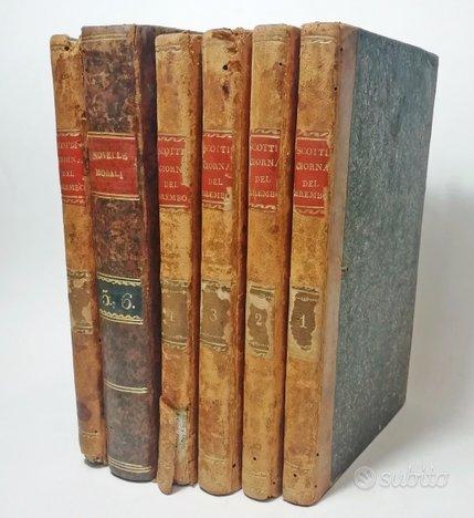 1805, LE GIORNATE DEL BREMBO Novelle Morali SCOTTI