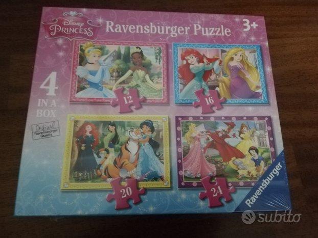 Ravensburger 4 puzzle Disney Princess. Nuovo
