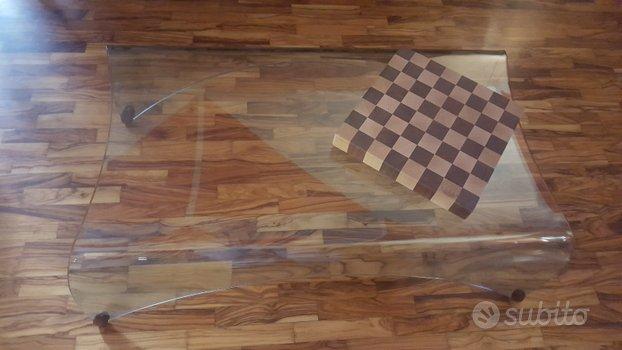 Tavolino salotto vetro curvato 10 mm. marca FIAM,FIAM