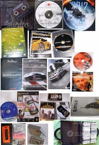 CD-R 80 48x, DVD, CD musicali, audiocassette VHS