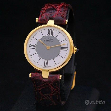 Cartier Must de Cartier Vermeil Lady argento 925