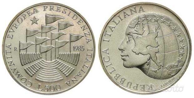500 lire argento 1985 Presidenza C.E.E