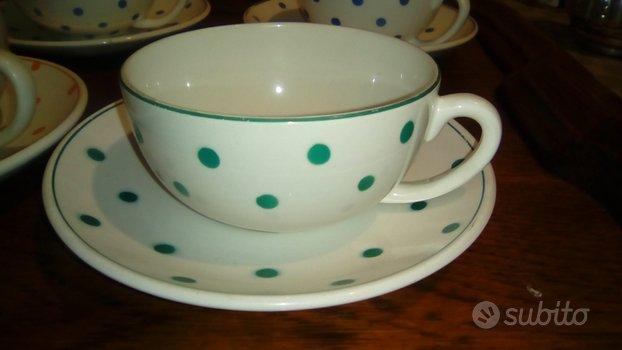 Set tazze anni 50 Società Ceramica Italiana LAVENO