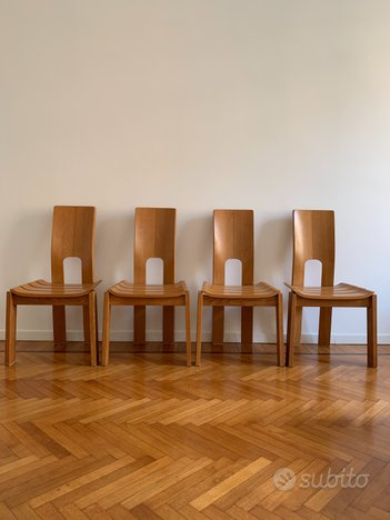 4 sedie da pranzo svedese in rovere 1960 - Arredamento e ...