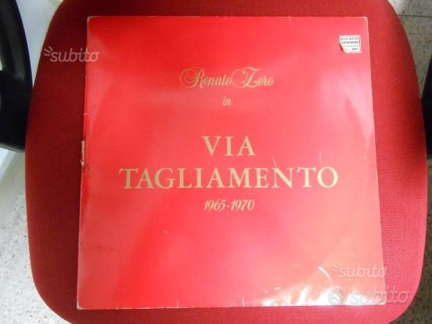 Vinile Renato Zero Via Tagliamento doppio album