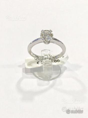 Anello Solitario oro18kt con diamante CT 0.89(CR)