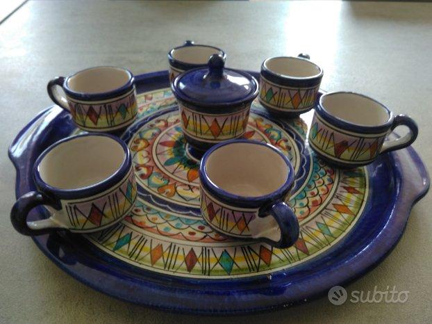 Servizio caffè ceramica Vietri sul Mare - Arredamento e ...