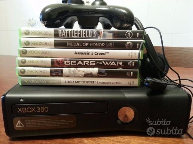Xbox 360 slim 250gb più giochi