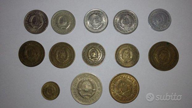 Lotto 13 monete Ex-Yugoslavia