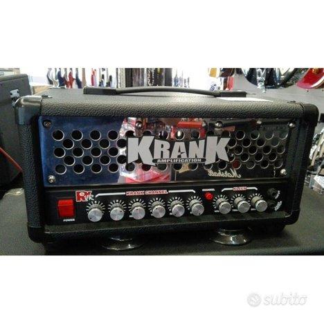 Amplificatore chitarra krank 50 testata 50 watt