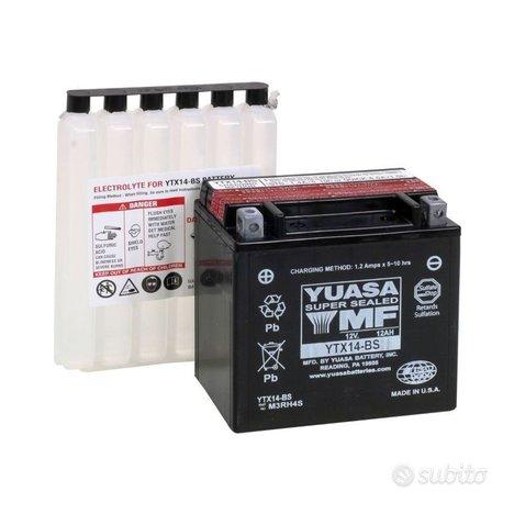 Batteria yuasa ytx14-bs 12v 12ah acido moto bmw