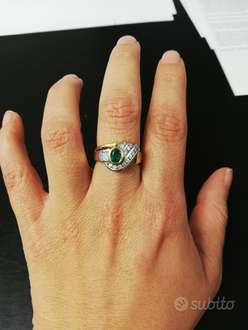 Anello Salvini in Oro, Smeraldo e Diamanti