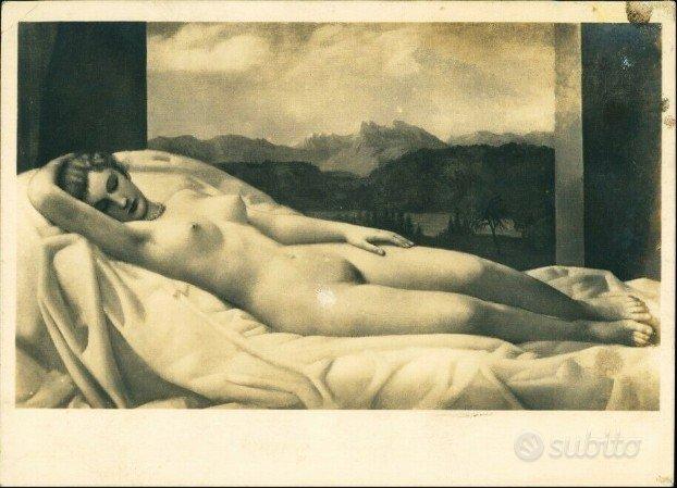 Cartolina Nudo Erotico di Klein e TERZO REICH 1937