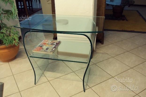 Tavolino in vetro nuovo con piano girevole
