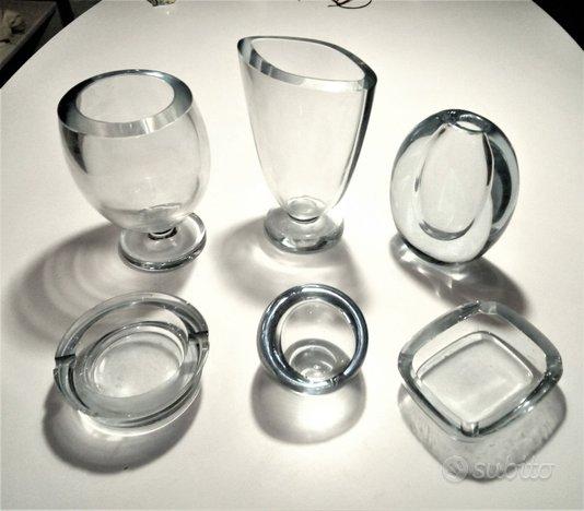 Set di vasi e portacenere in cristallo Danimarca c
