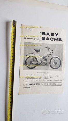 Testi 50 Baby Sachs 1952 depliant originale moto