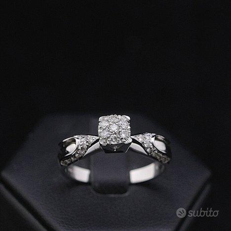 Anello oro 18kt diamanti taglio brillante 0,21 ct