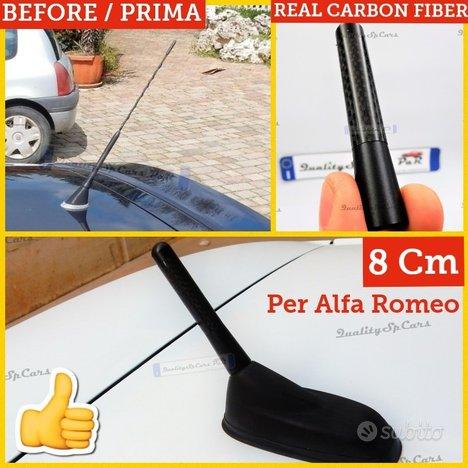 ANTENNA per ALFA ROMEO 147 155 Fibra di Carbonio