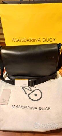 Mandarina Duck Cartella a Tracolla in pelle NUOVA