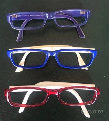 3 montature occhiali gucci e armani