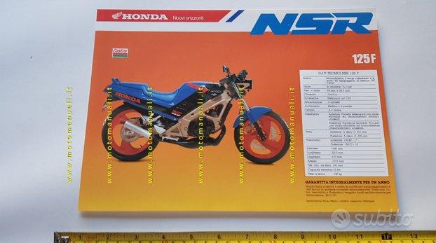 Honda NSR 125 F 1987-8 depliant originale italiano