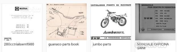 SWM Manuali vari modelli- 1980