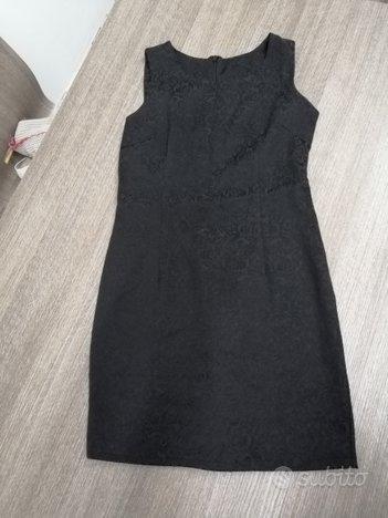 Vestito tubino nero lavorato