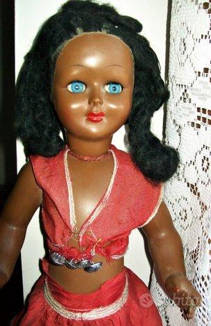 Rara bambola nera vintage anni 30/40