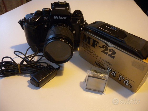Nikon F4 mat. 2122866 motore mb-21+ obbiettivo