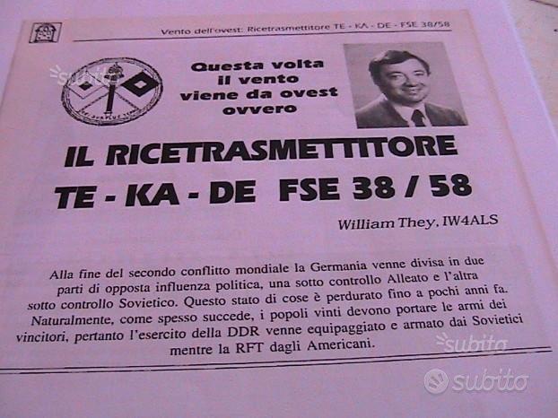 Schema elettrico ricetrasmittente fse 38/58