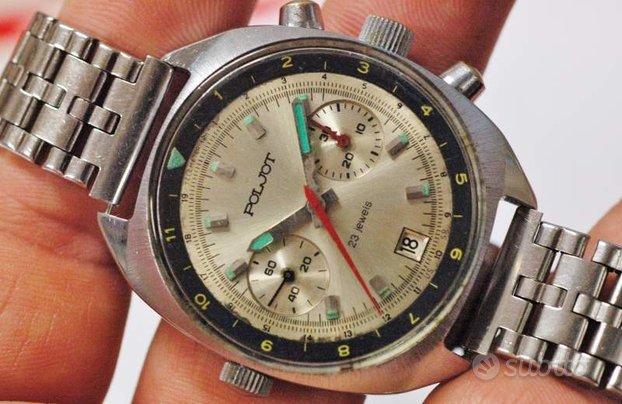 Cronografo poljot 3133 sturmanskie vintage anni 80